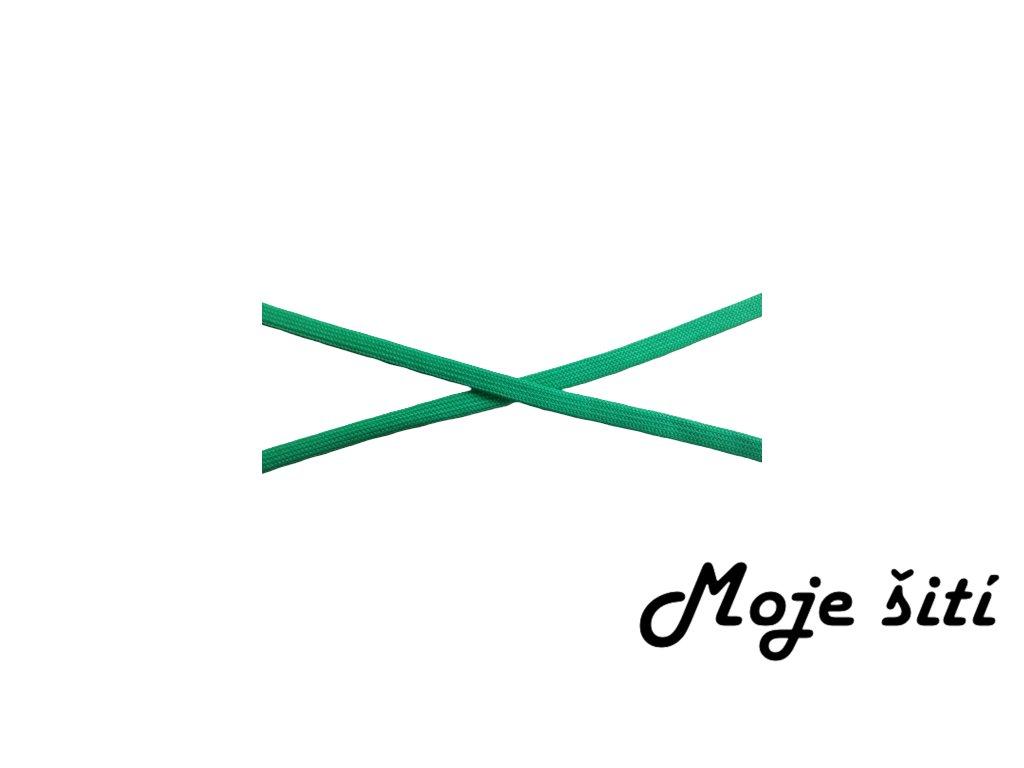 plocha odevni snura 10mm zelena1