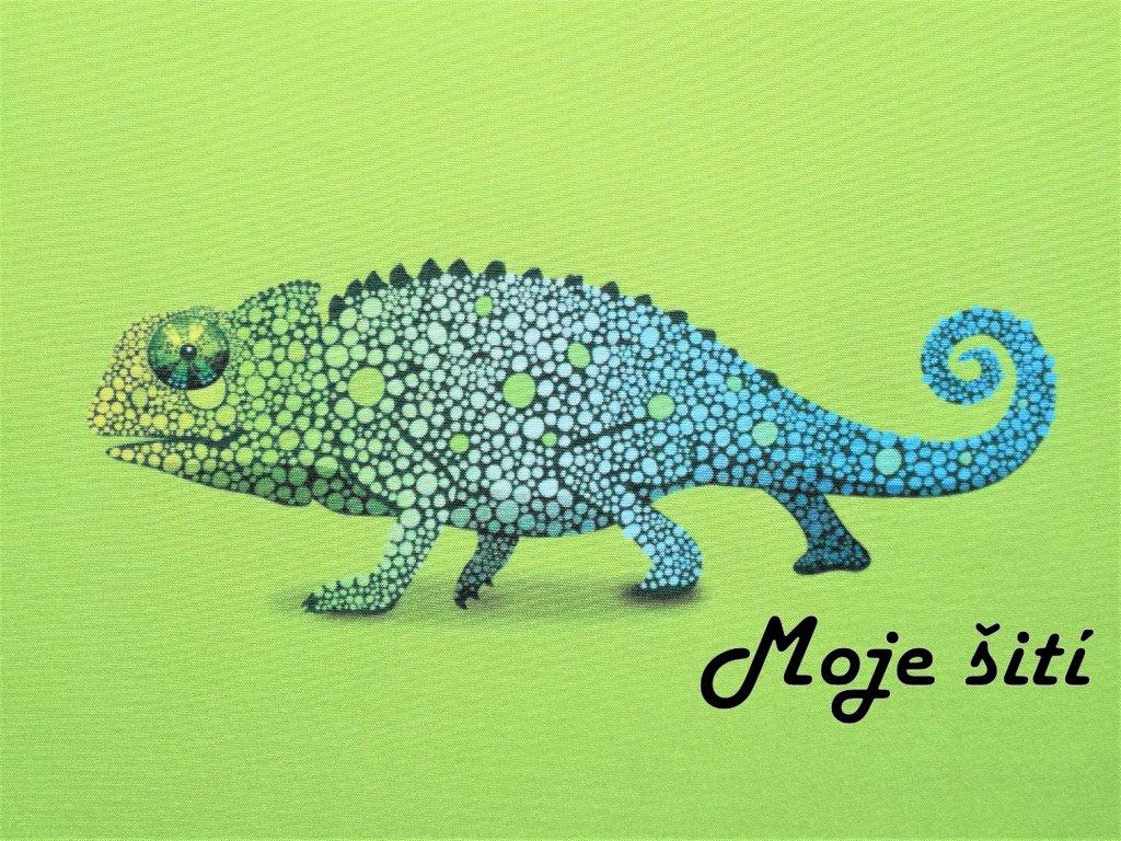 Softshellový letní panel Chameleon&neon zelená 20x20cm