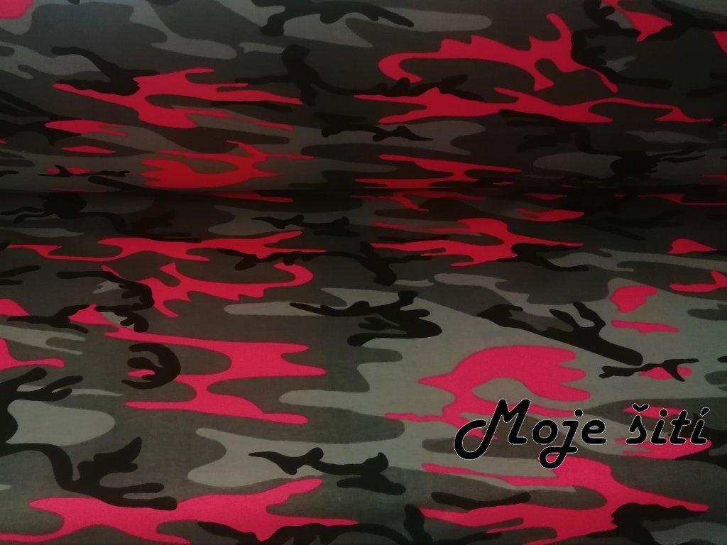 teplákovina neon růžový melír (4)