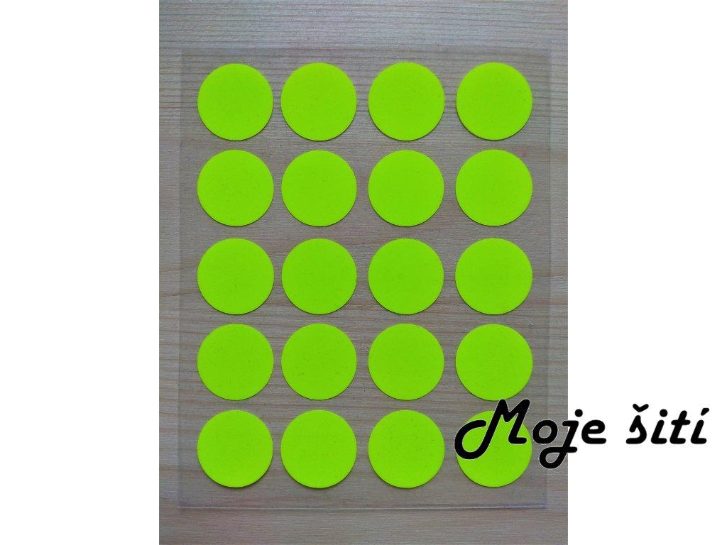 Neonové nažehlovací obrázky - kolečka žlutá