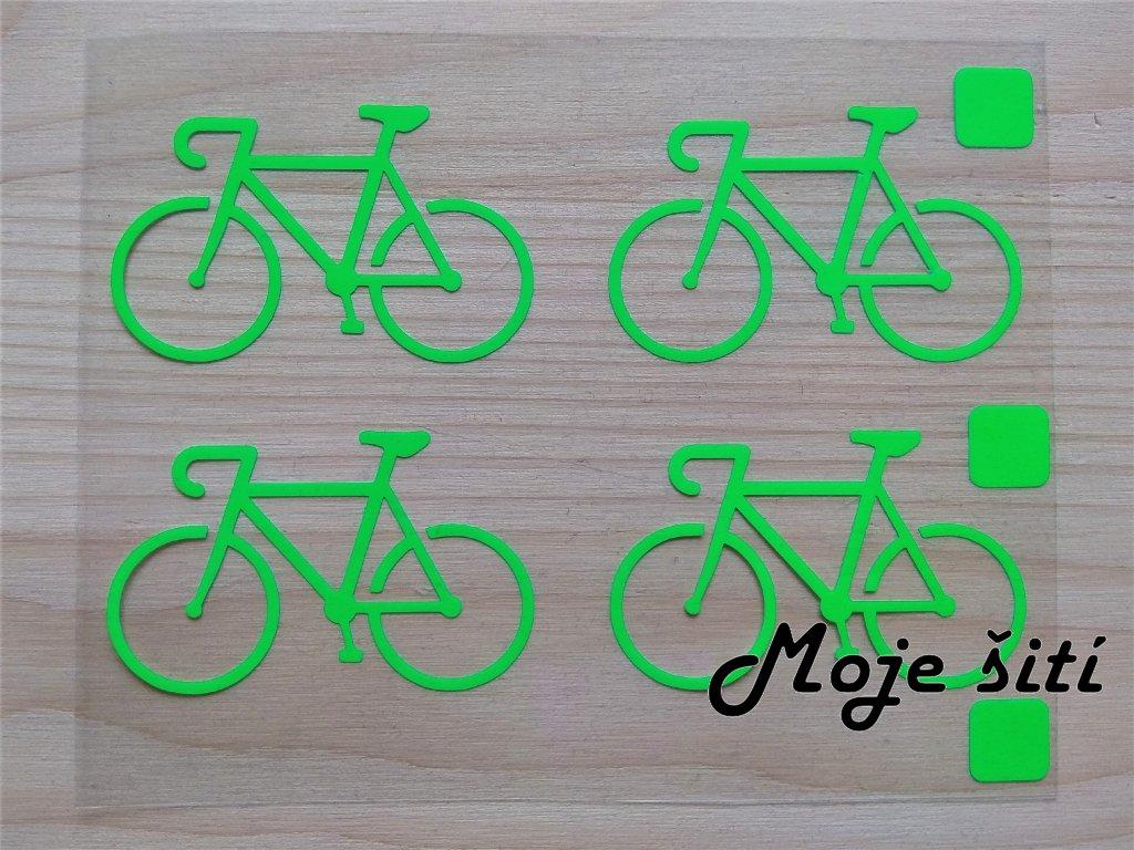 Neonové nažehlovací obrázky - kola zelená