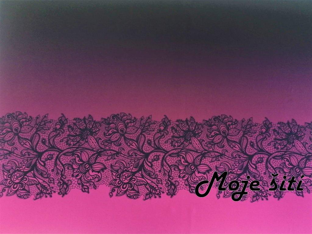 panel na sukni krajka na ruzove