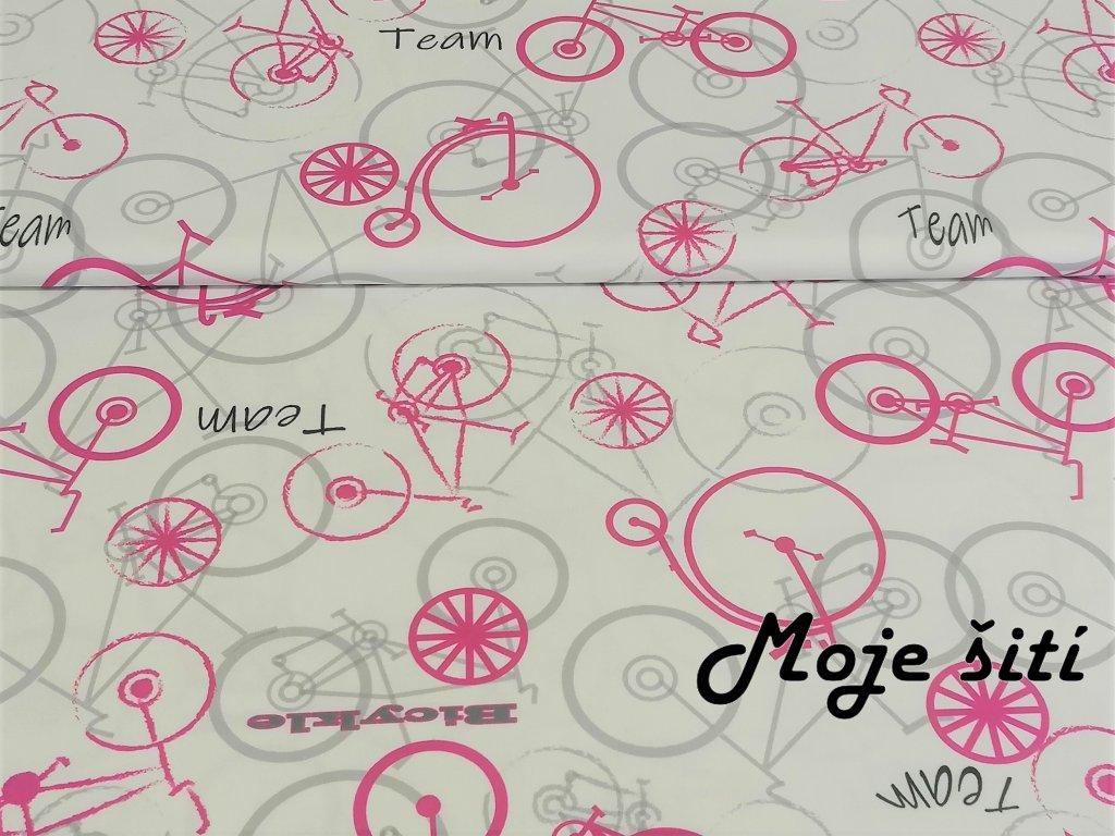 bicykl ruzovy