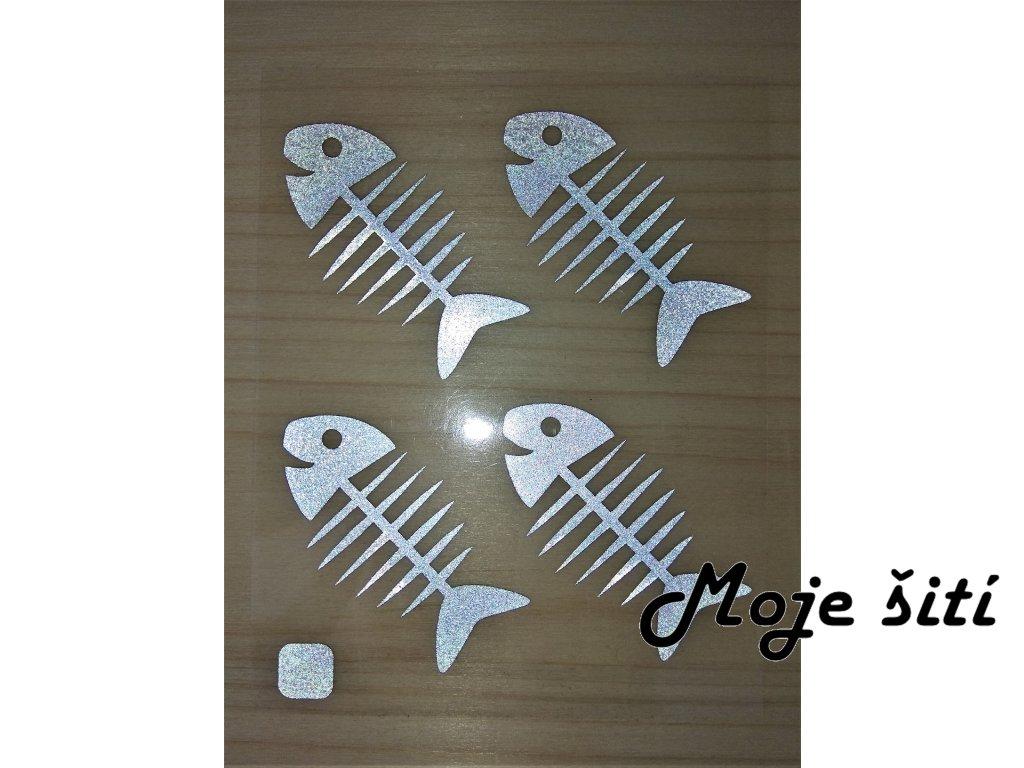 reflexni nazehlovaci obrazky rybi kost 2