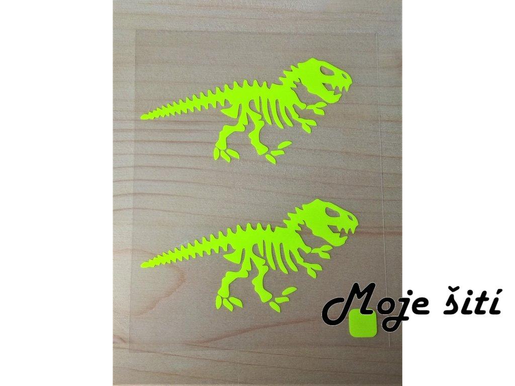 Neonove nazehlovaci obrazky kostra dinosaura zluta
