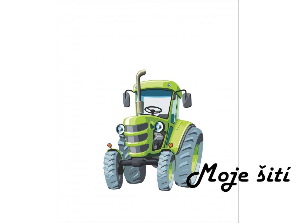 traktor zeleny 40x50
