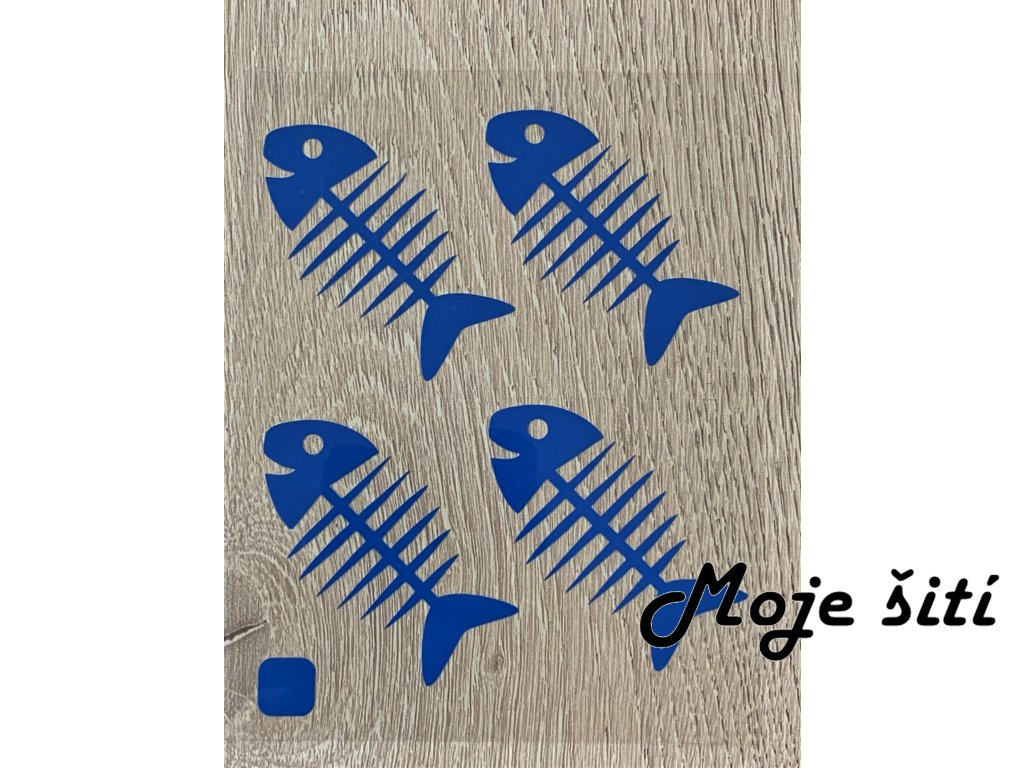 rybi kost neon modra