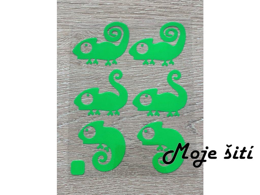 chameleoni neon zelena