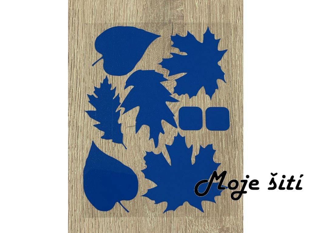 podzimni listi neon modre