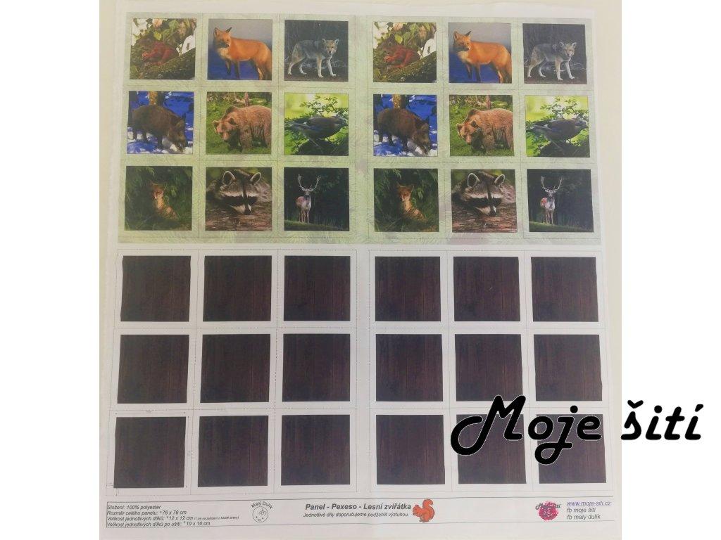 panel pexeso lesní zvířátka (2)
