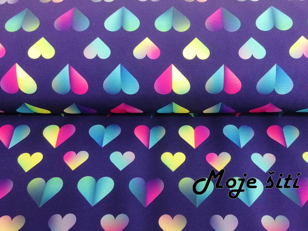 Zimní softshell Srdce Love me - digitální tisk