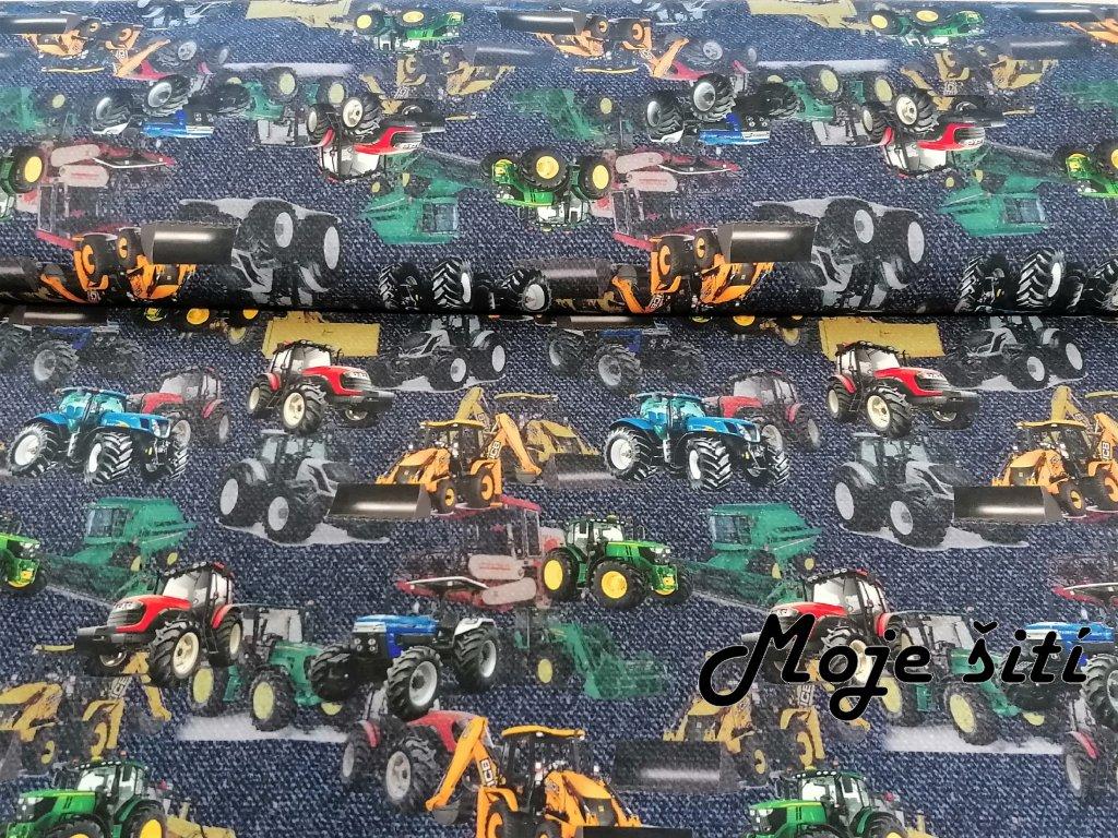 Traktory a bagry na jeans