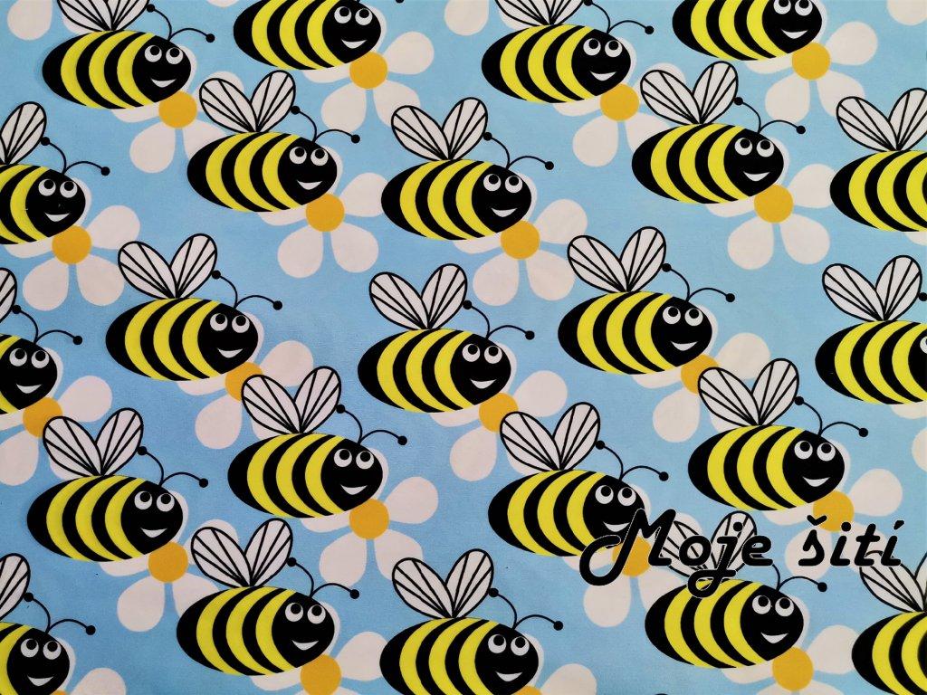 prémiová počesaná teplákovina včeličky (3)