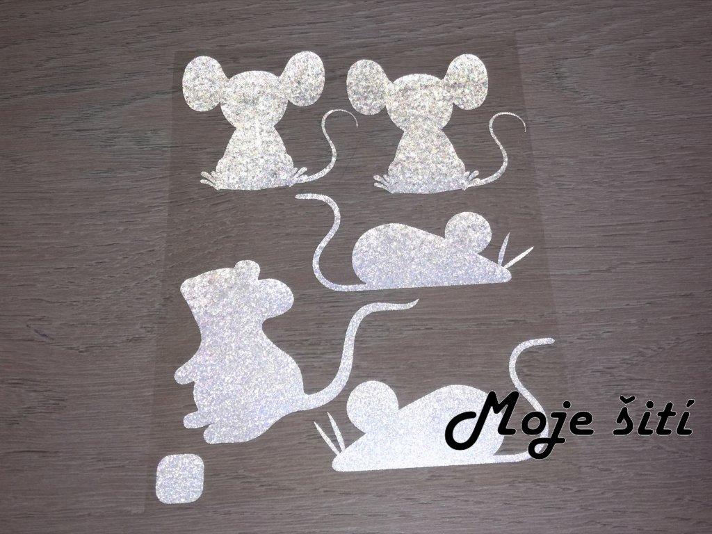 Nažehlovací reflexní obrázky - myšky