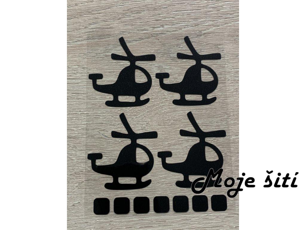 Černé nažehlovací obrázky - helikoptéry