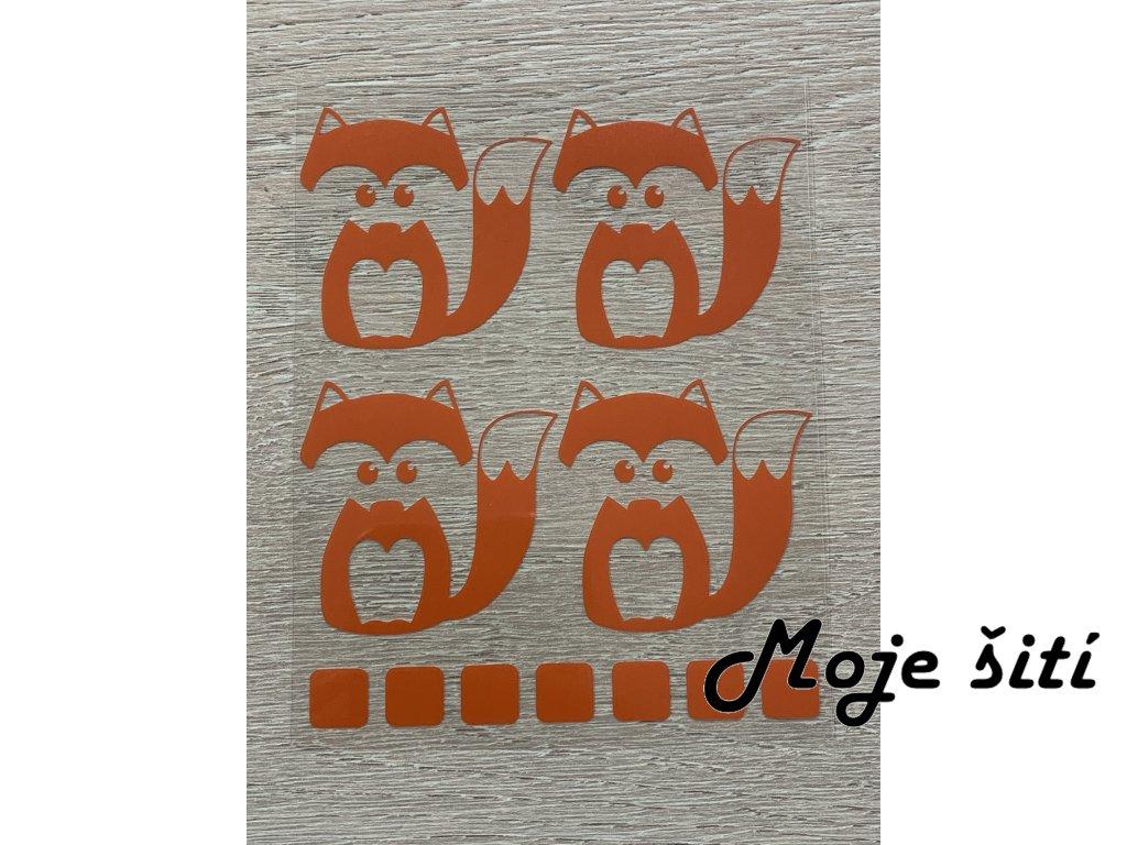 Oranžové nažehlovací obrázky - lištičky