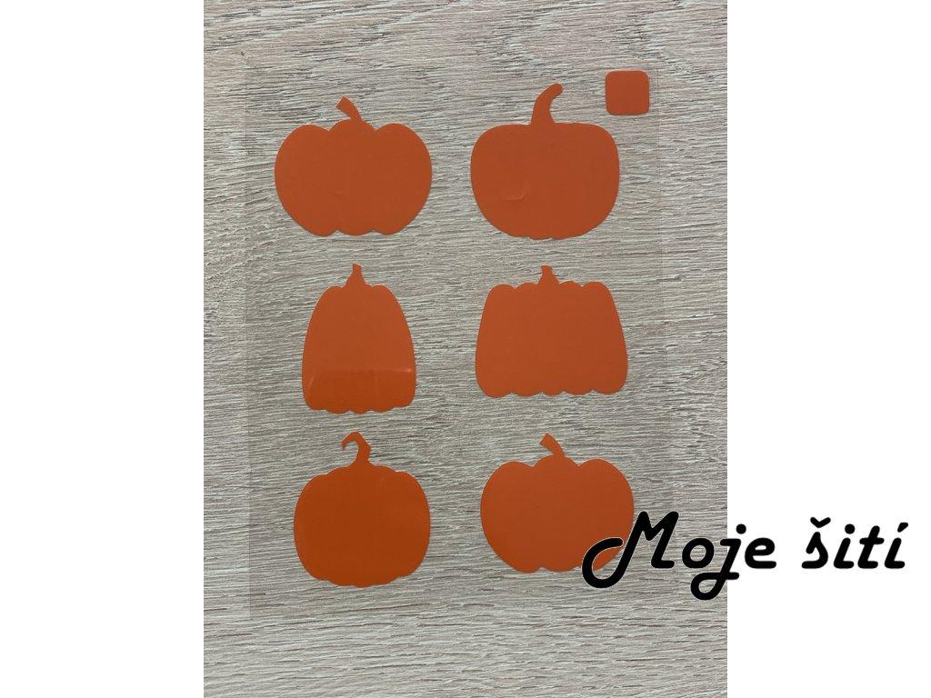 Oranžové nažehlovací obrázky - dýně