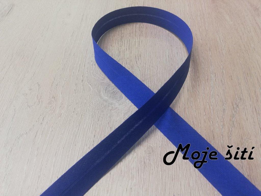 20mm Bavlna založený královsky modrý