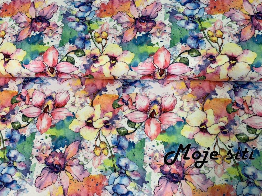 MicroFleece Orchideje