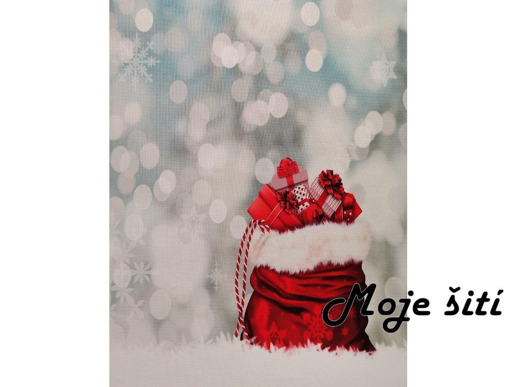 Panel kočárkovina Vánoční punčocha 40x50cm