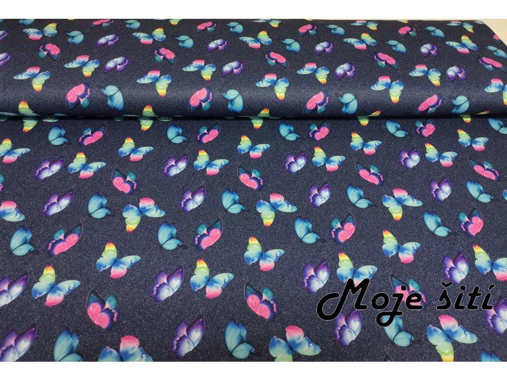 MicroFleece Motýlci na jeans (2)