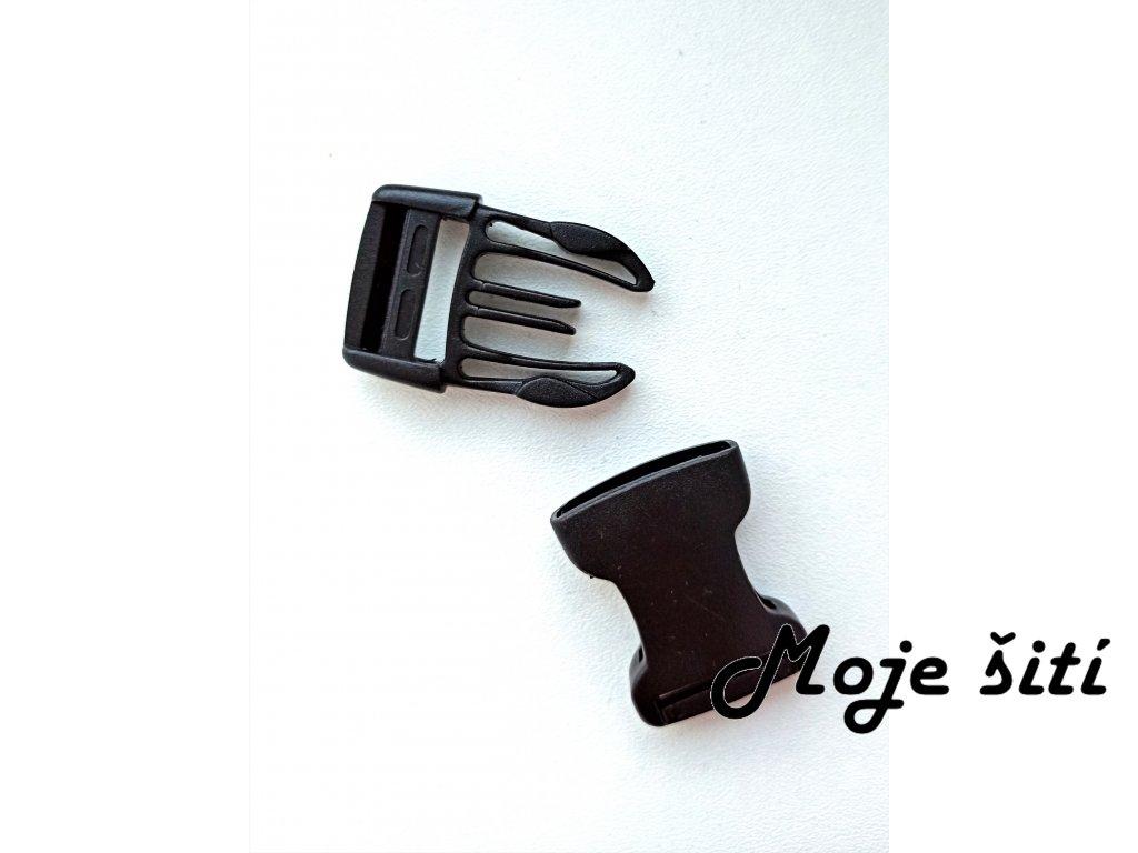Plastová spona černá 25 mm