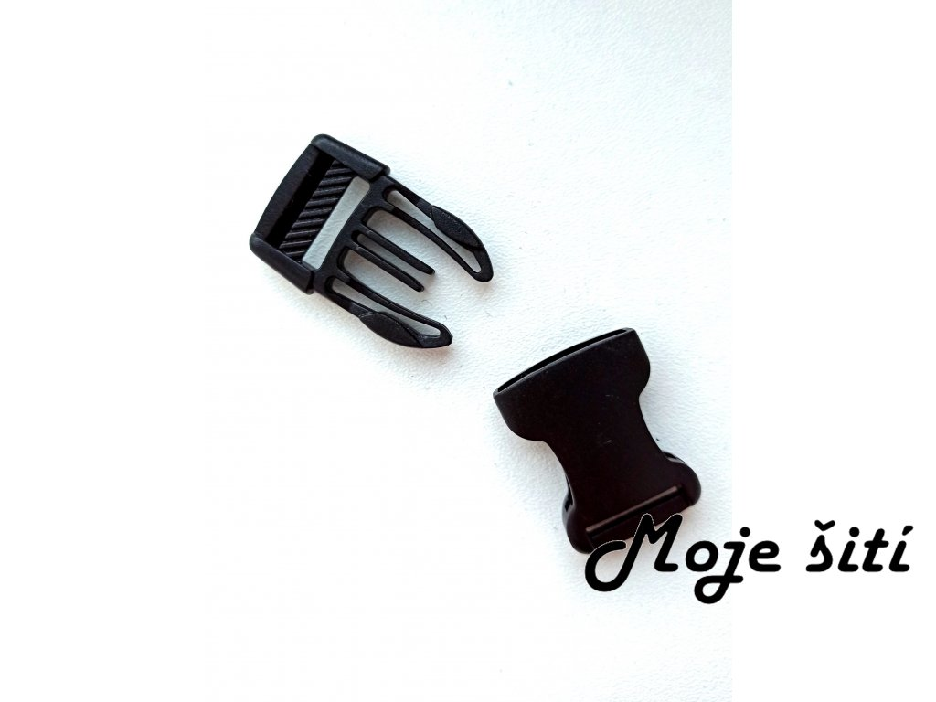 Plastová spona černá 20 mm