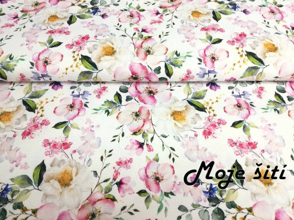 LETNÍ softshell Květy jabloně