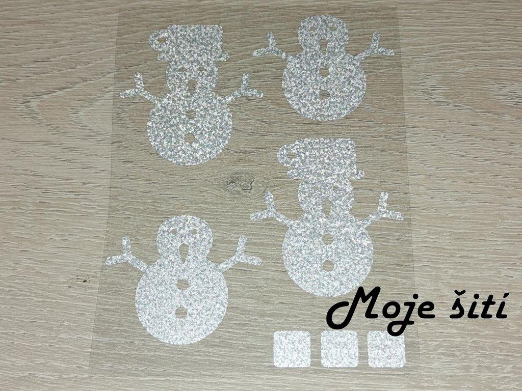 Nažehlovací reflexní obrázky - sněhuláci
