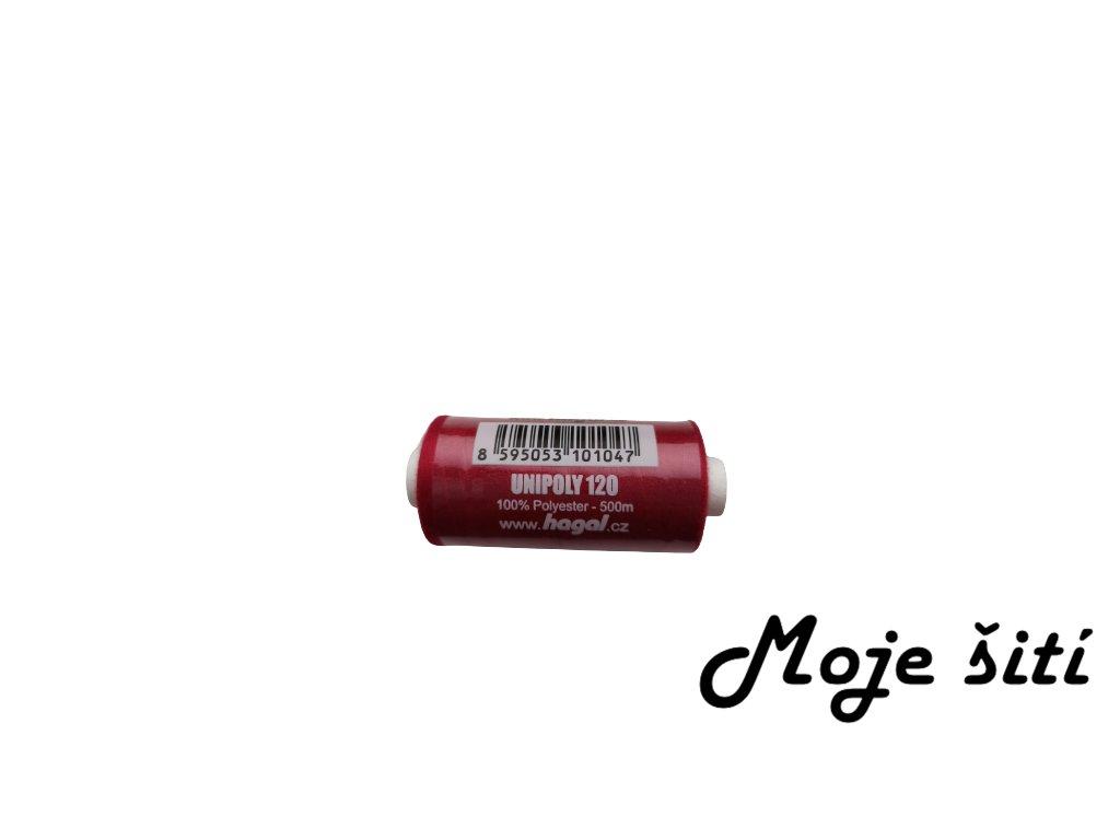 Unipoly 120 tmavě červená 346