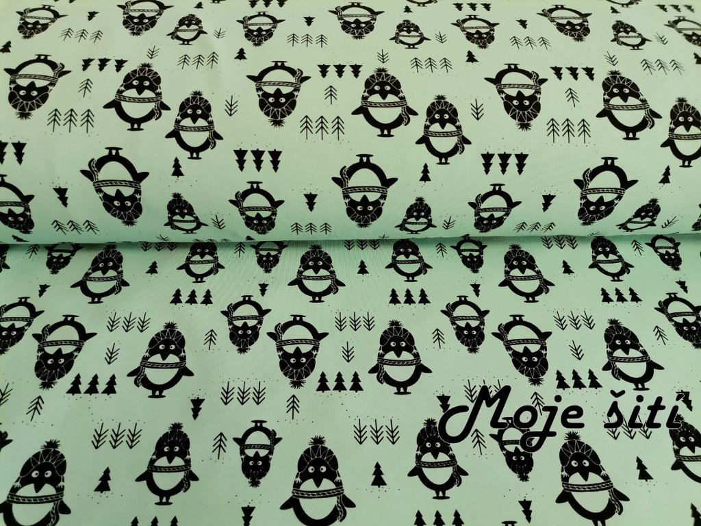 Tučňáci na zeleném mentolu (4)