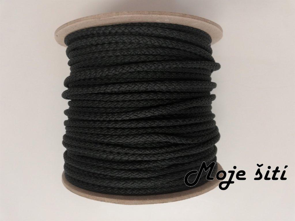 Oděvní šňůra 4mm tmavě šedá