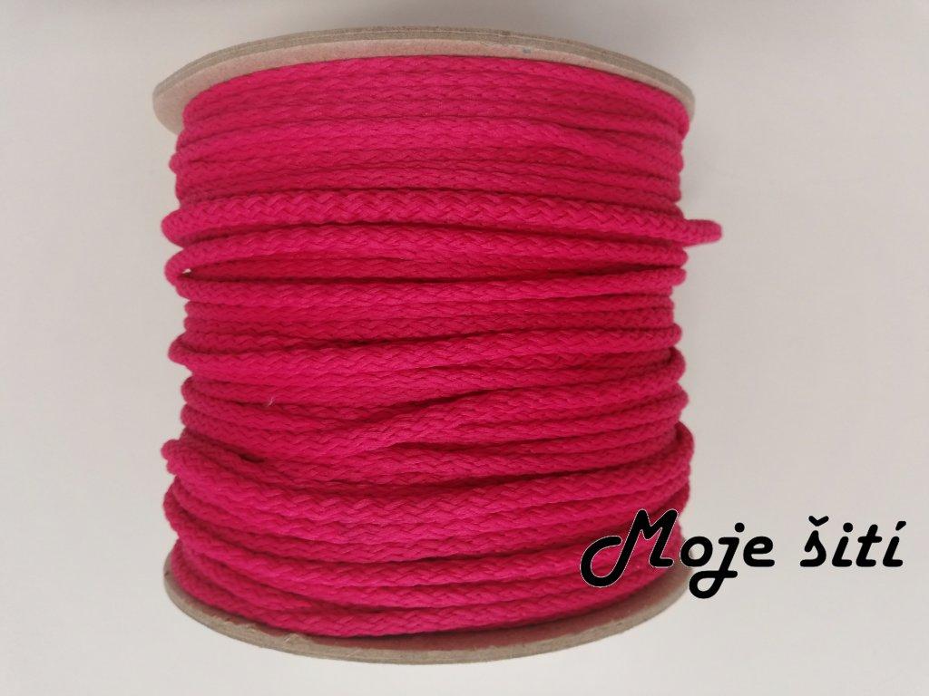Oděvní šňůra 4mm sytě růžová