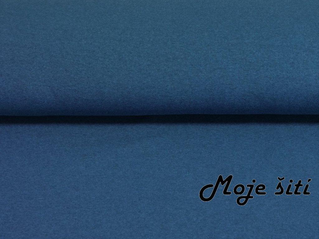 Teplákovina s elastanem 290g/m2 MODRÉ melé K
