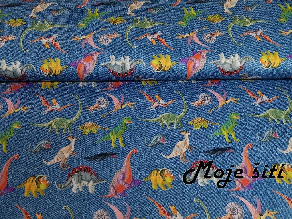 Barevní dinosauři na jeans (2)
