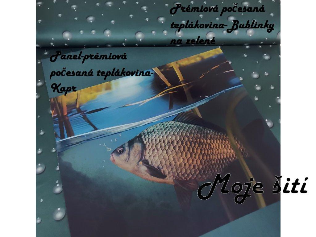 Panel - Kapr 49 x 69 cm - prémiová počesaná teplákovina