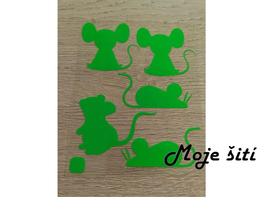 zelené myšky
