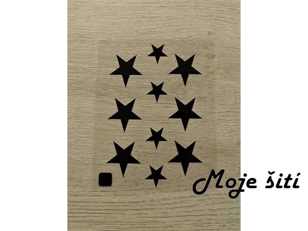 Černé nažehlovací obrázky - hvězdičky
