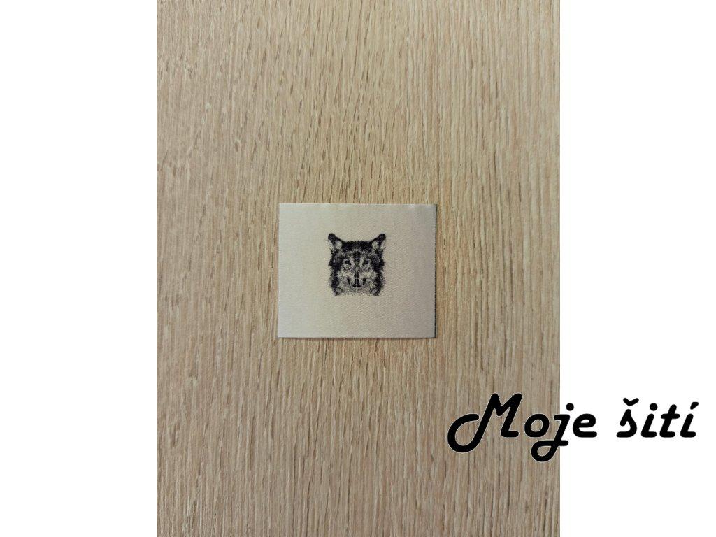 Barevné boční etikety do švu - Vlk