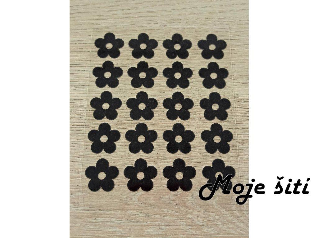 černé kytičky 20 ks