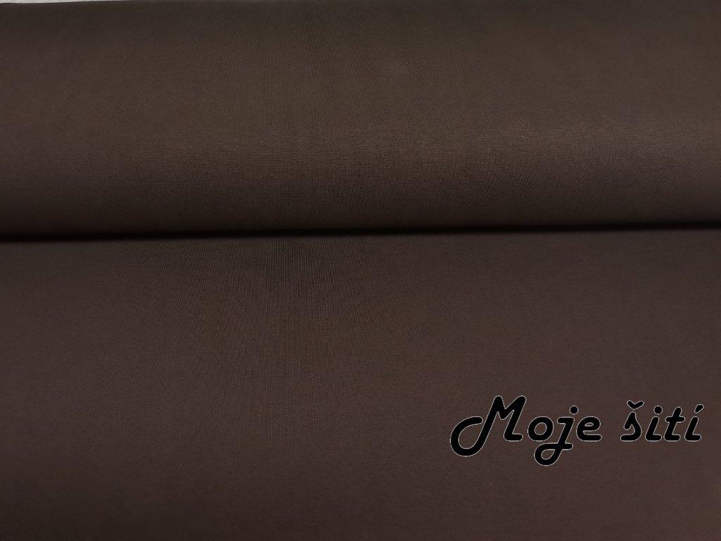 Bavlněný náplet s elastanem Čokoládově hnědý K
