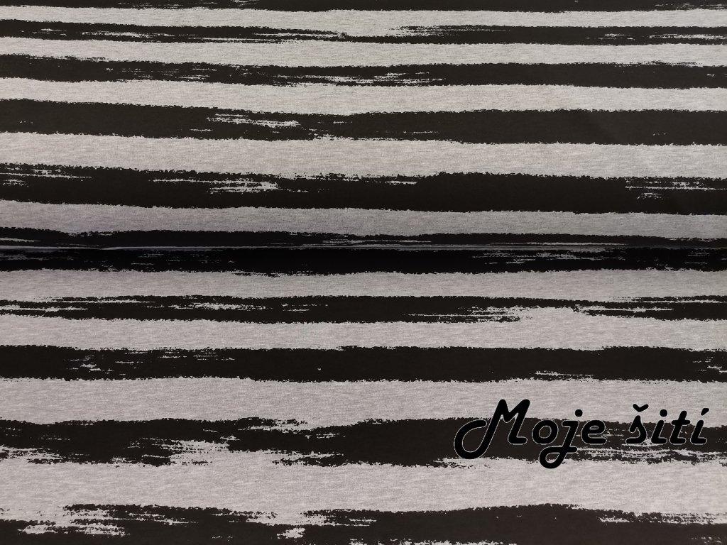 Černé proužky na šedém melíru (2)
