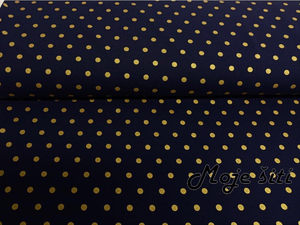 zlaté puntíky na modré (2)