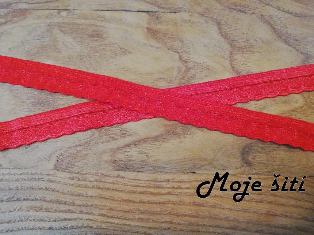 prádlová pruženka 14mm červená (2)