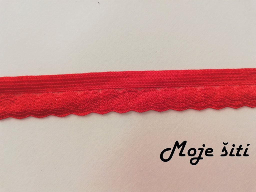 Pruženka prádlová 14mm červená
