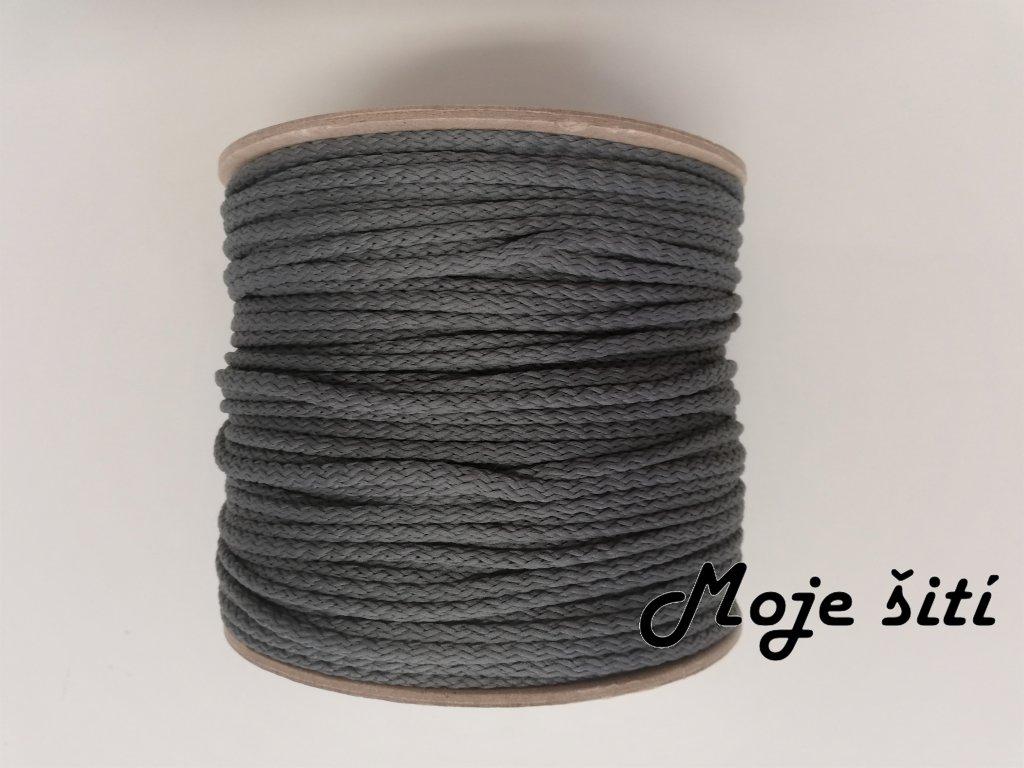 Oděvní šňůra 4mm šedá