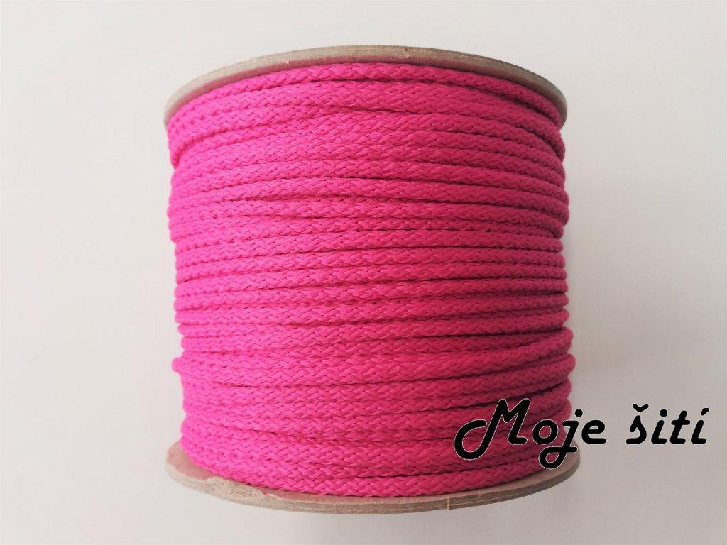 Oděvní šňůra 4mm růžová