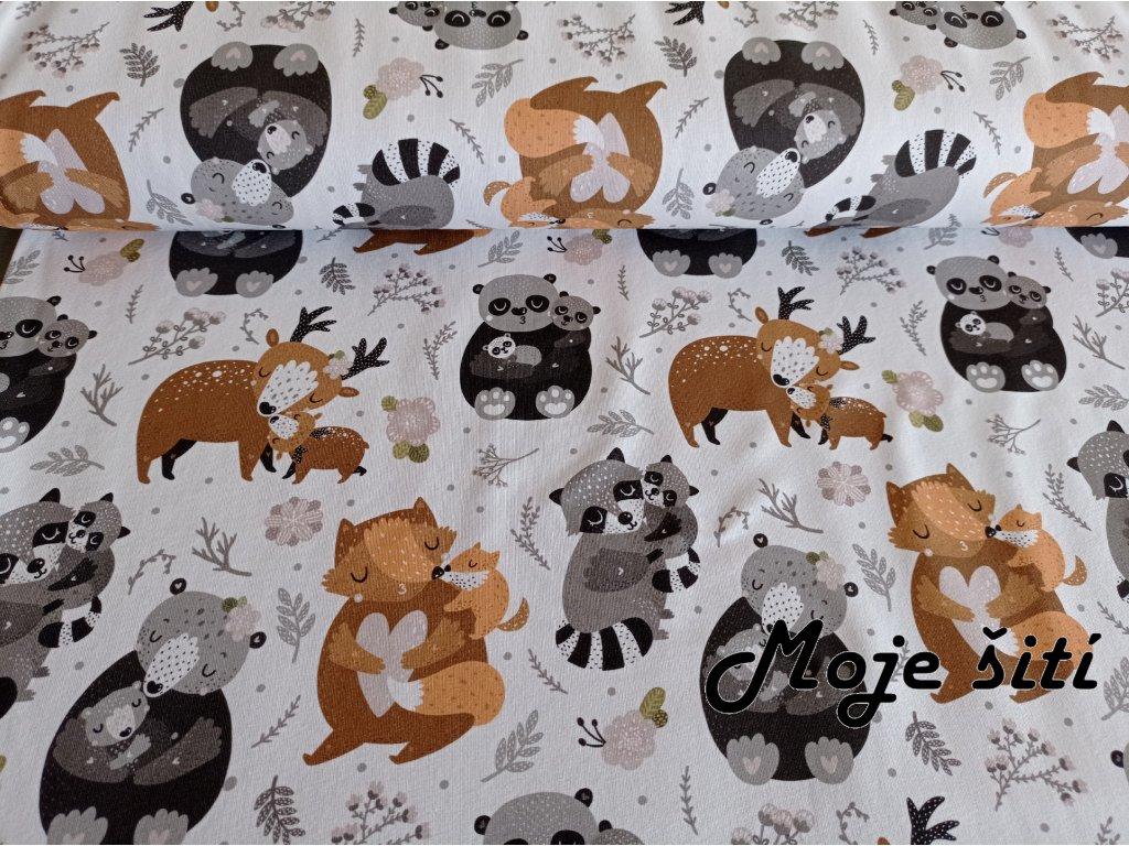 teplákovina kreslená zvířátka (3)