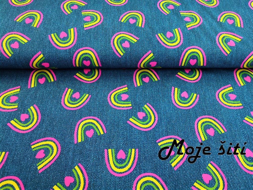 Neonové duhy na jeans