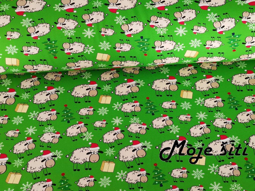Vánoční ovečky na zelené